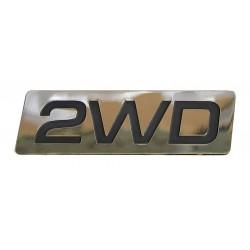 2WD Aufkleber chrom