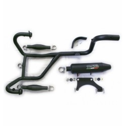 Exhaust system 2in1 black...
