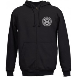 Zipp Hooded Sweater Black