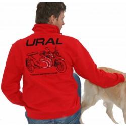 Sweater rot mit Ural Logo