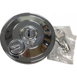 Tank lid lockable chrome
